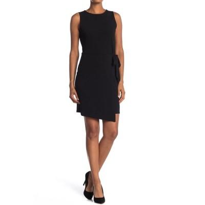 タッシュプラスソフィー レディース ワンピース トップス Sleeveless Wrap Skirt Dress BLACK