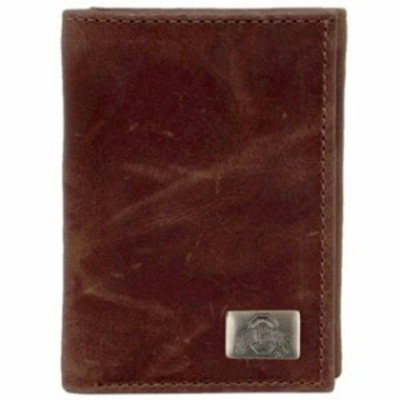 Eagles Wings イーグルス ウイングズ スポーツ用品  Ohio State Buckeyes Leather Tri-Fold with Concho - Brown