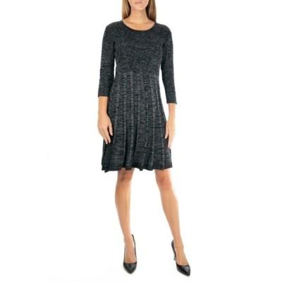 ニナレオナルド レディース ワンピース トップス Pleated Scoop Neck Dress BLACK MULT