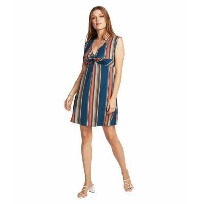 チェイサー ワンピース トップス レディース Cool Jersey Twist Front Sleeveless Babydoll Dress Multi Stripe