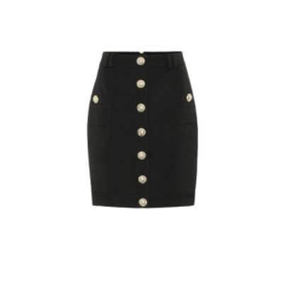バルマン Balmain レディース ミニスカート スカート Wool mini skirt Noir