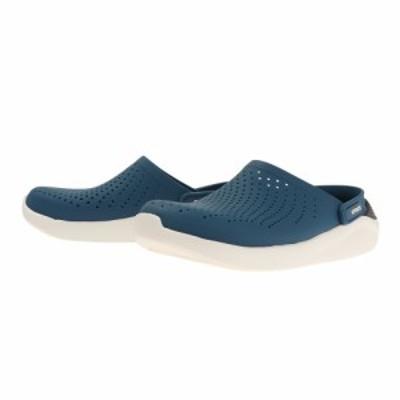 クロックス(crocs)サンダル ぺたんこ ライトライド LiteRide Clog Blue 204592-4SB ブルー …