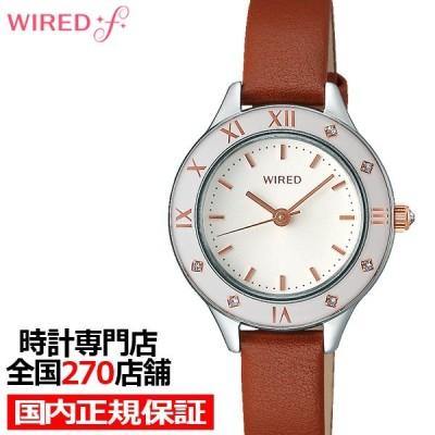 セイコー ワイアード エフ トウキョウガールミックス 腕時計 レディース クオーツ 革ベルト ホワイト AGEK442