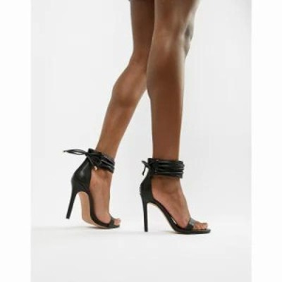 エイソス サンダル・ミュール Hidden Cuff Heeled Sandals Black
