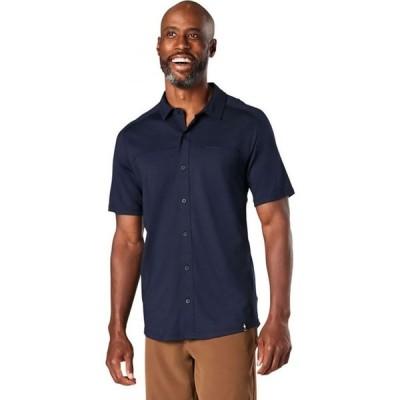 スマートウール Smartwool メンズ 半袖シャツ トップス Merino Sport 150 Short - Sleeve Button - Up Shirt Deep Navy