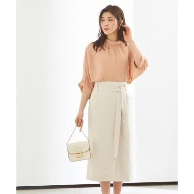 スカート リボン付ラップスカート
