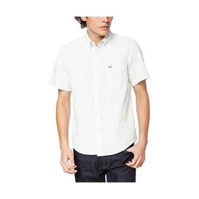 エドウィン ボタンダウンシャツ 軽くて涼しい綿麻素材の半袖ボタンダウンシャツ メンズ ET2086-3 ホワイト 日本 S (日本サイズS相