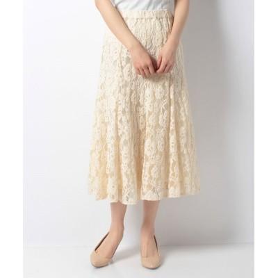 【ルゥデ】 モールレースフレアスカート(1R10-01191) レディース ホワイト M Rewde