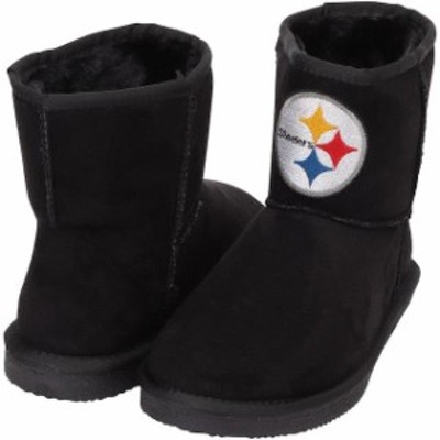 Cuce クーチェ シューズ ブーツ Cuce Pittsburgh Steelers Womens Black The Rookie Mini Boots