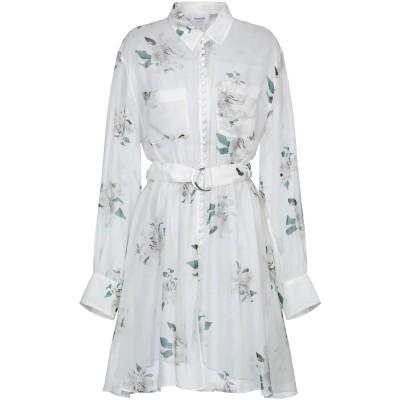 ドンダップ DONDUP ミニワンピース&ドレス ホワイト 44 シルク 100% ミニワンピース&ドレス