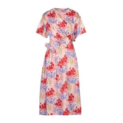 MOTHER OF PEARL 7分丈ワンピース・ドレス ピンク 8 シルク 51% / コットン 49% 7分丈ワンピース・ドレス
