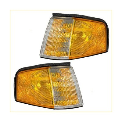 Driver and Passenger Park Signal Corner Marker Lights Lamps Replacement for Ford Mercury F23Z13201A F23Z13200A 並行輸入品