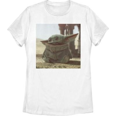 フィフス サン Fifth Sun レディース Tシャツ スクエアフレーム トップス Star Wars The Mandalorian The Child Square Frame T-Shirt white