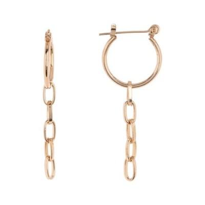 エリアスターズ レディース ピアス&イヤリング アクセサリー Chain Hoop Earrings GOLD