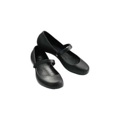 ファッション レディース ワークシューズ Black CROCS クロックス クロックス アリスワーク フラット 11050 お取り寄せ商品