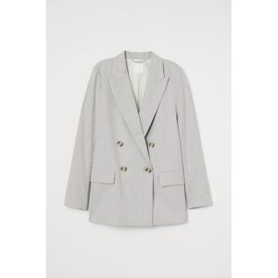 H&M - ストレートスタイルジャケット - ベージュ