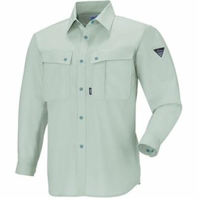 ジーベック(XEBEC) WX長袖シャツ 61/モスグリーン 5030 【作業服 作業着 ワークウエア ワークウェア メンズ レディース】