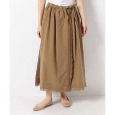 SM2(サマンサモスモス)【SM2】綿麻巻き風レーススカート