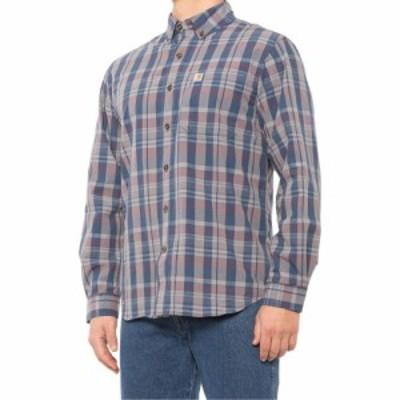 カーハート Carhartt メンズ シャツ トップス 104444 plaid button-down shirt - long sleeve Dark Blue