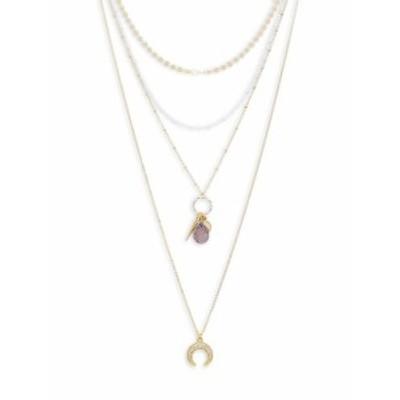パナシア レディース ネックレス Crystal Layered Charm Necklace