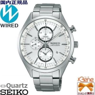 [新品!正規品] SEIKO セイコー /WIRED ワイアード NEW STANDARD Series/ ニュースタンダードシリーズ クォーツ クロノグラフ シルバー/銀色 丸型 AGAV108