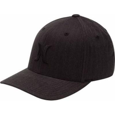 ハーレー メンズ 帽子 アクセサリー Hurley Men's Black Textures Hat Black Herringbone