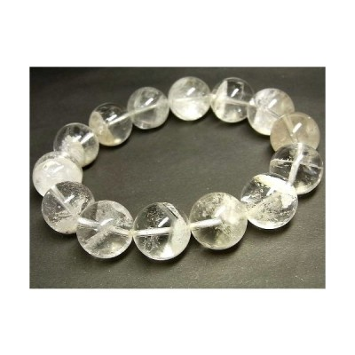 パワーストーン 天然石 ブレスレット 超大粒 白色ピラミッドファントム水晶 16.5〜17mm Felistone
