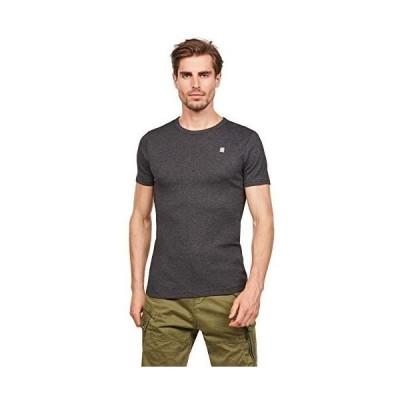 [G-Star RAW ジースターロゥ] メンズ Tシャツ スリム 半袖 Daplin T-Shirt S/S (black htr XL)