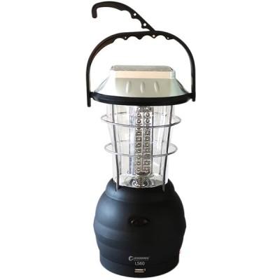 グッドグッズ(GOODGOODS) LEDランタン ソーラー 充電式 60灯 懐中電灯 手回しダイナモ充電 5way充電 2段階切り替え キャンプ 夜