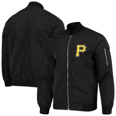 ピッツバーグ・パイレーツ JH Design Logo Full-Zip Bomber ジャケット - Black