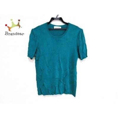 イヴサンローラン YvesSaintLaurent 半袖セーター サイズM レディース 美品 グリーン  値下げ 20201117