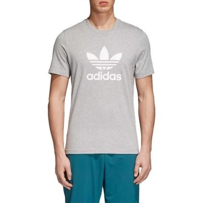 アディダス adidas メンズ Tシャツ トップス Originals Trefoil Graphic T-Shirt Medium Grey