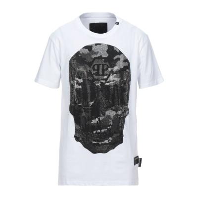 PHILIPP PLEIN T シャツ ホワイト XL コットン 100% T シャツ