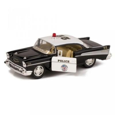 【送料無料】ミニカー 1957 Bel Air Die Cast Police Car Toy with Pull Back Action 輸入品