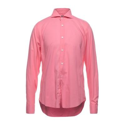 FEDELI シャツ ピンク 42 コットン 95% / ポリウレタン 5% シャツ