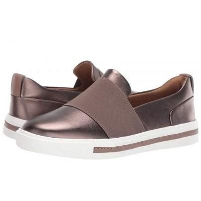 Clarks クラークス レディース 女性用 シューズ 靴 スニーカー 運動靴 Un Maui Step - Pebble Metallic Leather