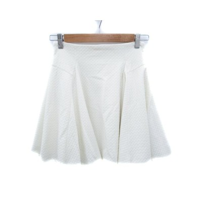【中古】マーキュリーデュオ MERCURYDUO スカート フレア ひざ丈 総柄 S 白 ホワイト /FF43 レディース 【ベクトル 古着】