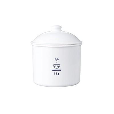 ストッカー おしゃれ ( RICE CAN 2300ml ) ストッカー 電子レンジ不可 食洗機不可 おしゃれでかわいいイラスト付 保存容器 日本製