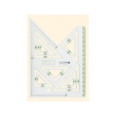 クロバー ピーステンプレート直角三角形1 2 58-000 ツール 製図型取り用品