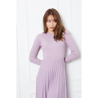 Glitter pleats knit OP