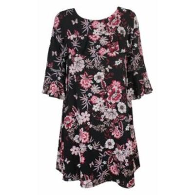 Jessica Howard ジェシカハワード ファッション ドレス Jessica Howard Black Red Floral geruscht Dress