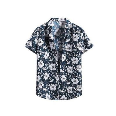 WYTong Hawaiian Shirts for Men Summer Tee Short Sleeve Beach Flower Shirt M