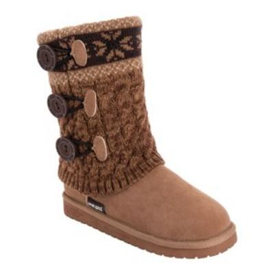 ムクルクス レディース サンダル シューズ Cheryl Slipper Boot (Women's) Camel Brown Acylic/Polyester/Faux Suede