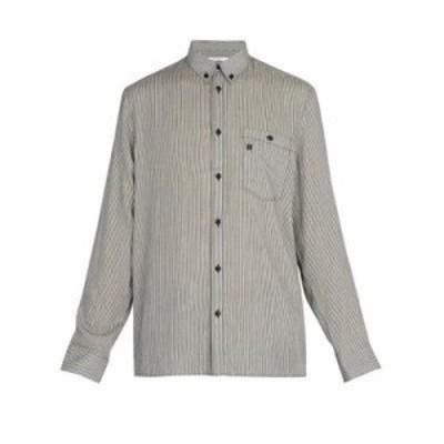 ジバンシー シャツ Point-collar striped shirt Black