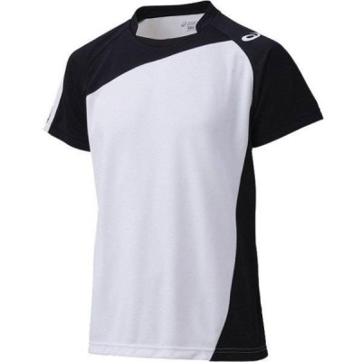 【送料290円】アシックス ゲームシャツHS ホワイト×ブラック asics XW1321 0190