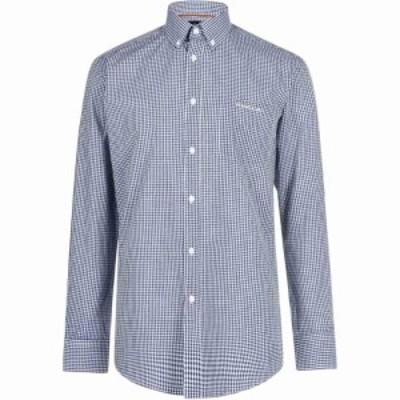 ピエール カルダン Pierre Cardin メンズ シャツ トップス Long Sleeve Shirt Navy Check