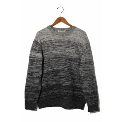 【中古】2018AW COOTIE クーティー Gradation Crewneck Sweater グラデーション ニット セーター S Grey 灰 /◆