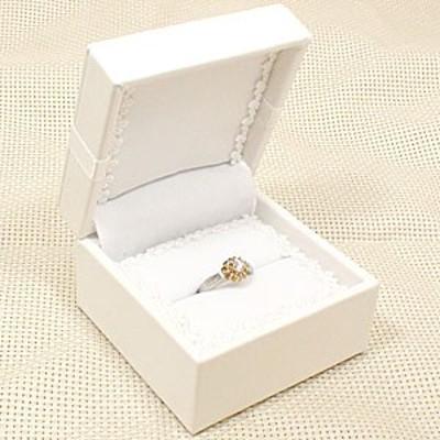 指輪 リング用 ジュエリーケース 指輪ケース 収納 リング専用ケース リングブライダル ホワイト リボン 白 人気 おしゃれ 送料無料 レデ