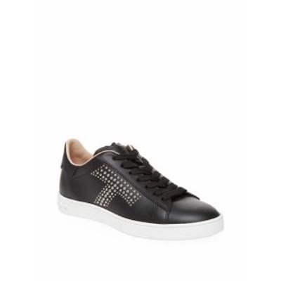 トッズ レディース シューズ スニーカー Studded Leather Sneakers
