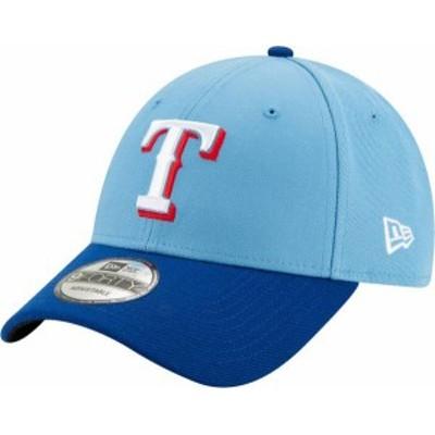 ニューエラ メンズ 帽子 アクセサリー New Era Men's Texas Rangers Alternate 9Forty Light Blue Adjustable Hat -